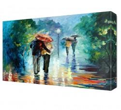 Yağmur Altında Canvas Tablo - Thumbnail