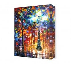 Dekorsevgisi - Yağmurlu Park Canvas Tablo (1)