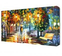 Dekorsevgisi - Yağmurda Gezinti Canvas Tablo (1)