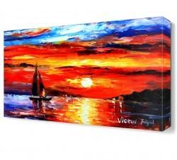 Dekorsevgisi - Turuncu Günbatımı Canvas Tablo (1)