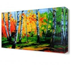 Dekorsevgisi - Ağaç Gövdeleri Canvas Tablo (1)