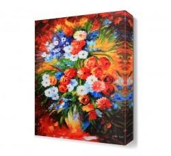Dekorsevgisi - Renkli Çiçekler2 Canvas Tablo (1)