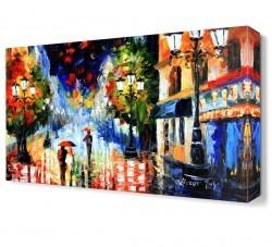 Dekorsevgisi - Yağmurda Yürüyenler Canvas Tablo (1)