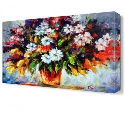 Dekorsevgisi - Vazodaki Buket Canvas Tablo (1)