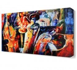 Dekorsevgisi - Enstrumanların Dansı Canvas Tablo (1)