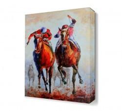 Dekorsevgisi - Victor Figol At Yarışı Canvas Tablo (1)