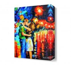 Dekorsevgisi - Victor Figol Aşık Öpücüğü Canvas Tablo (1)