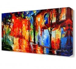 Dekorsevgisi - Sokak Lambalarının Sihiri Canvas Tablo (1)