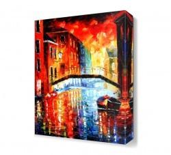 Dekorsevgisi - Venedik Gün Batımı Canvas Tablo (1)