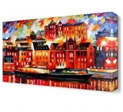Dekorsevgisi - Hayali Şehir Canvas Tablo (1)
