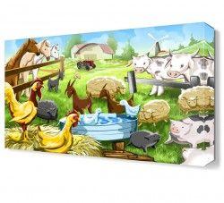 Hayvan Çiftliği Canvas Tablo