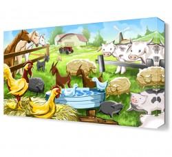 Hayvan Çiftliği Canvas Tablo - Thumbnail