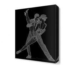 Dekorsevgisi - Siyah Dans Canvas Tablo (1)