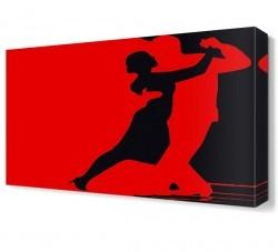 Dekorsevgisi - Kırmızı Tango Canvas Tablo (1)