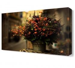 Dekorsevgisi - Saksıdaki Çiçekler Canvas Tablo (1)