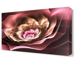 Dekorsevgisi - Pembe Işıklı Çiçek Tablosu (1)