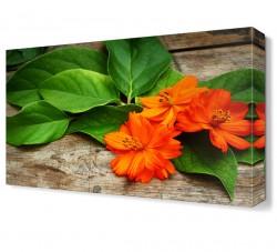 Turuncu Çiçekler Tablosu - Thumbnail