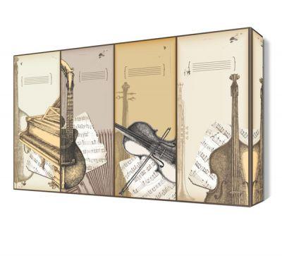 Notalı Müzik Aletleri Canvas Tablo