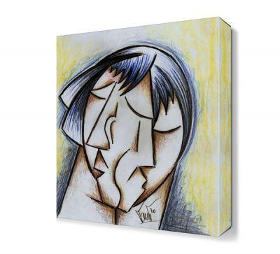Üzgün Kadın Yüzü Canvas Tablo