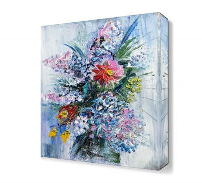 Saksı Çiçekleri Yağlı Boya Tablosu