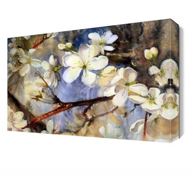 Yağlı Boya Beyaz Çiçek Tablosu