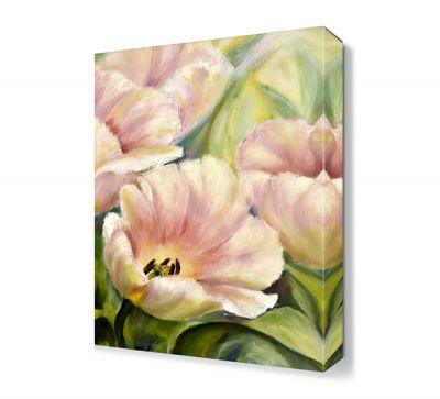 Beyaz Çiçek Yağlı Boya Tablosu