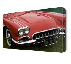 Dekorsevgisi - Kırmızı Chevrolet Tablo (1)
