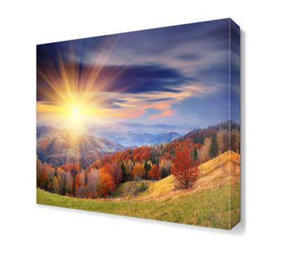 Dağ ve Güneş Canvas Tablo