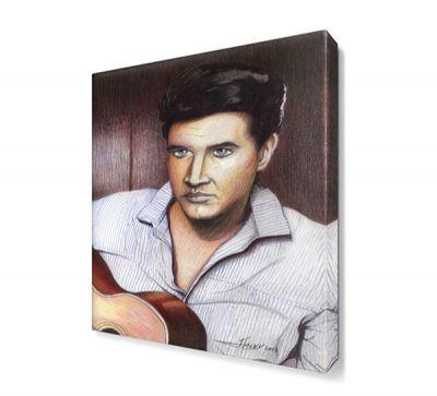 Elvis With Canvas Tablo