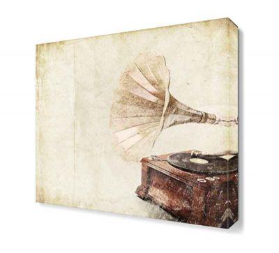 Gramafon Canvas Tablo