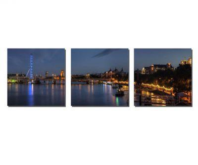 3 Parçalı Londra Tablosu