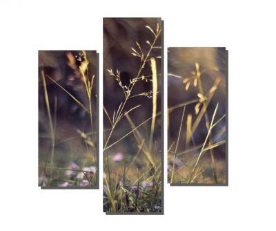 3 Parçalı Küçük Çiçekler Tablosu