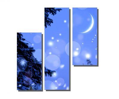3 Parçalı Mavi Gökyüzü Tablosu