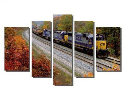 Tren ve Sonbahar Tablosu