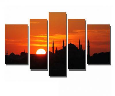 Siyah Camii ve Batan Güneş Tablosu