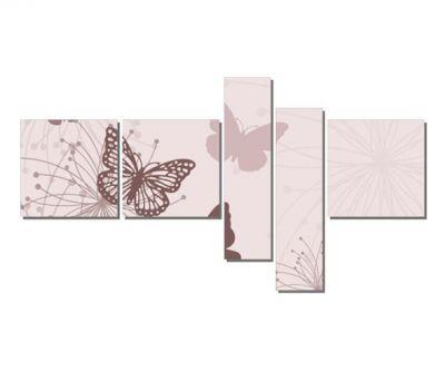 Pembe Kelebek Desenleri Tablosu