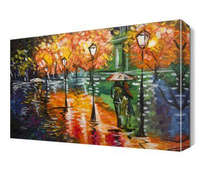 Yağmurlu Sokak Canvas Tablo